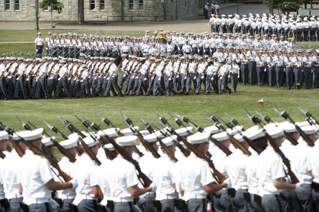 The traditional pass in review was performed by the Corps of Cadets during the Acceptance Day Parade on Aug. 14, and event which officially accepts the Class of 2014 as members of the Corps of Cadets.