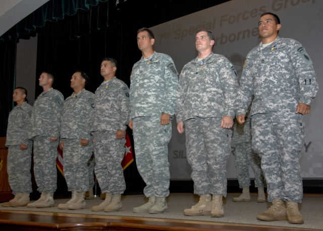 7th Special Forces Group Soldiers receive Silver Stars for battlefield valor in Afghanistan