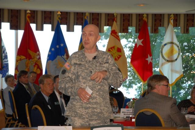Major Gen. Nick Justice speaks at Top of the Bay