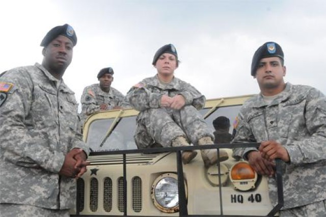 """FORT LEE, Va. (Aug. 19, 2010) - Many of the 206 members of the 267th Quartermaster Company, 240th QM Battalion, who deployed to Afghanistan in June 2009 are now trickling in from block leave. The 49th QM Group element deployed at a time when the United States began to ramp up its numbers in the mountainous country while decreasing them in nearby Iraq. Their job, not their doctrinal mission, was to provide convoy security, a dangerous undertaking for any unit - combat arms or otherwise. Their experiences driving armored vehicles from Bagram Airfield to outlying areas yielded everything from personal growth to unit cohesion and a million things in between. The Fort Lee Traveller recently spoke to five Soldiers about their time """"downrange."""" Staff Sgt. Craig Pinckney"""