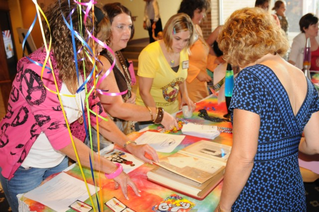 Area spouses register to become Fort Rucker Community Spouses Club members during last year's Super Sign Up. Those interested in becoming members can attend this year's membership drive Aug. 26 from 9 a.m. to 1 p.m. at The Landing.