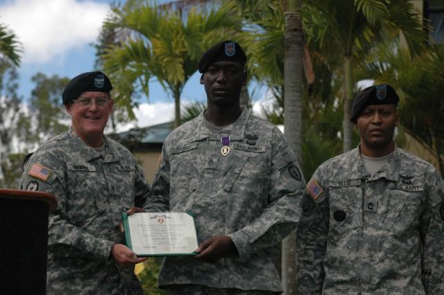 Staff sergeant receives second Purple Heart