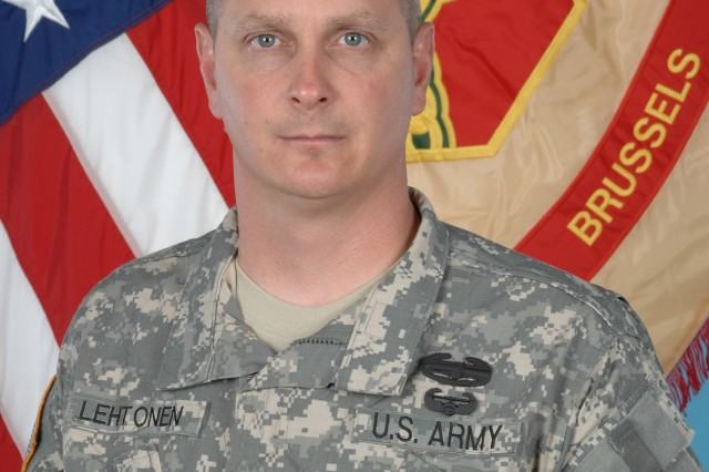 Command Sgt. Maj. Robert G. Lehtonen II is the new command sergeant major at U.S. Army Garrison Brussels, Belgium. His last assignment was as the command sergeant major for 4-25 Field Artillery Regiment, 10th Mountain Division, Fort Drum, N.Y.