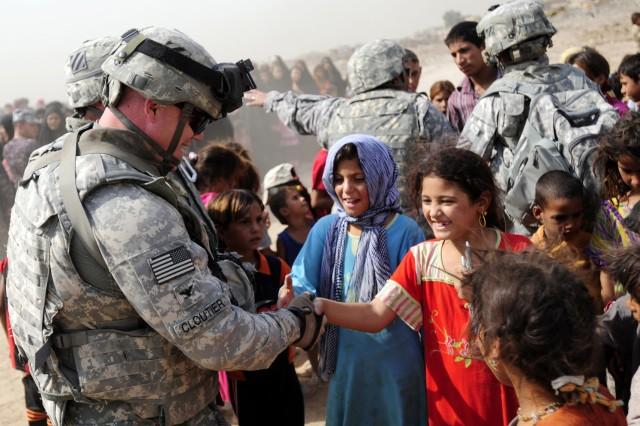 1st AAB conducts humanitarian aid drop in Iraq