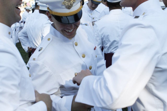 West Point Cadets celebrate ring ceremony