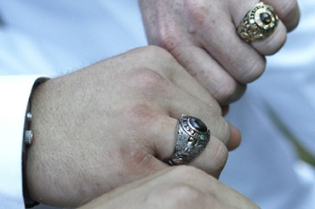 The concept of a class ring originated in 1835, as West Point became the first American university to honor its senior class with a treasured keepsake of gold. A decade ago, a new chapter to this West Point tradition was forged when molten gold emerged from a fiery furnace to inaugurate the Memorial Class Ring Donor Program. That program continues today as the Class of 2011 proudly wears rings forever connected with members of the Long Gray Line.