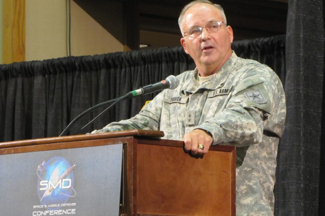 Maj. Gen. Richard Formica, who currently serves on the headquarters staff at the  Department of the Army, shares his views on the future of the Army's air and missile defense efforts at the 13th annual Space and Missile Defense Conference. Formica, who will assume command of the Space and Missile Defense Command/Army Forces Strategic Command upon the retirement of Lt. Gen. Kevin Campbell, also mentioned his appreciation for an assignment that will bring him to Redstone Arsenal and Huntsville. ""