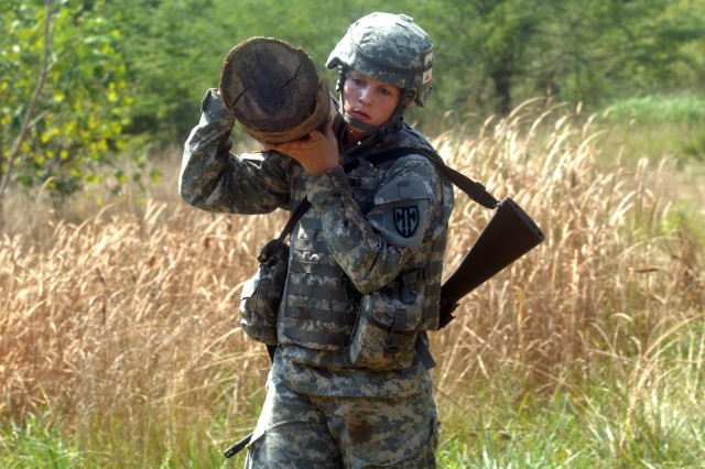Sgt. Nicole Jenkins, a corrections officer with United States Army Regional Correctional Facility-Europe, 95th  Military Police Battalion, 18th MP Brigade a native of Foxborough, Mass., competes as the Army Corrections Command representative in the National Capital Region Noncommissioned Officer of the Year competition.