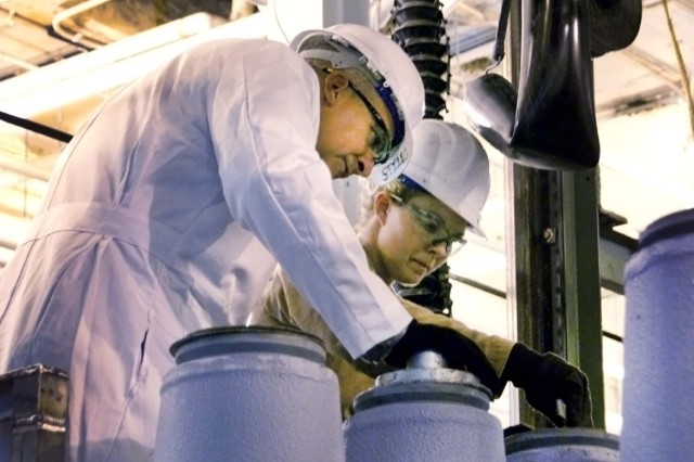 BG Maddux looks at 500-pound bomb
