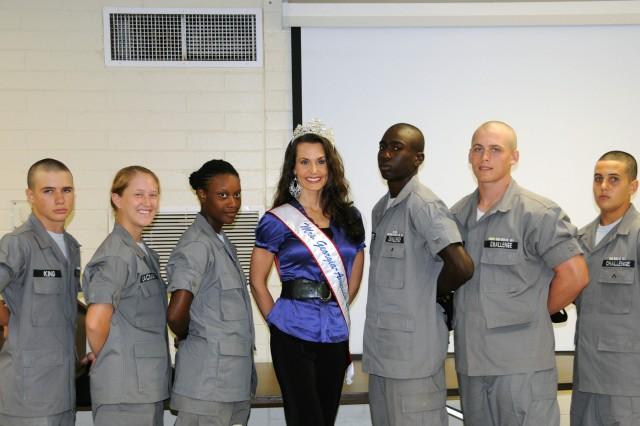 Mrs. Georgia-America visits Fort Stewart