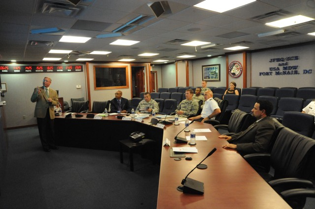 The Chief of the Office of Legislative Liaison visits JFHQ-NCR/MD
