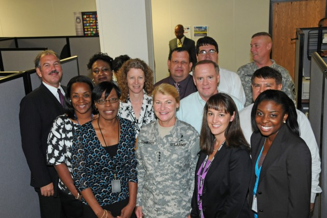 Gen. Dunwoody with the G-1/8 offices.