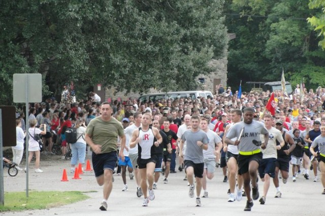 More than 2,000 participants took part in the third annual Run for the Fallen at Waholi Pavilion Aug. 21. Soldiers, Family members and civilians came to run, walk and bike in honor of the fallen.