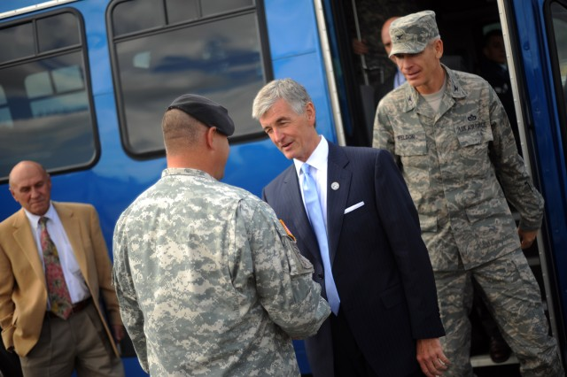 Secretary of the Army at Joint Base Lewis-McChord