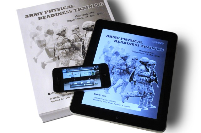 TC 3-22.20, Army Physical Readiness Training, weighs in at more than 430 pages. A downloadable version is now available via AKO and the Reimer Digital Library. An iPhone app based on the book is also available on iTunes with how-to photos and videos.