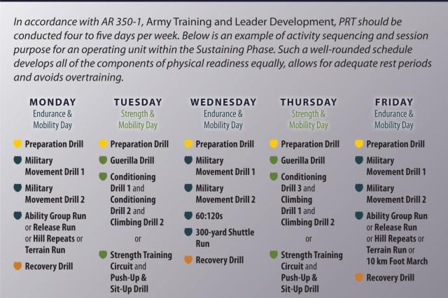 PRT 8: Sample Schedule (Sustaining Phase)