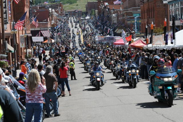 CRIPPLE CREEK, Colo. - More than 5,000 motorcyclists ride into Cripple Creek to show their support to American veterans during the 18th Annual Recognition Ride Aug. 21. The riders created a column that stretched for approximately nine miles as they traveled from Woodland Park to Cripple Creek.