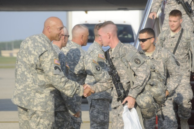 Charlie Company returns from deployment