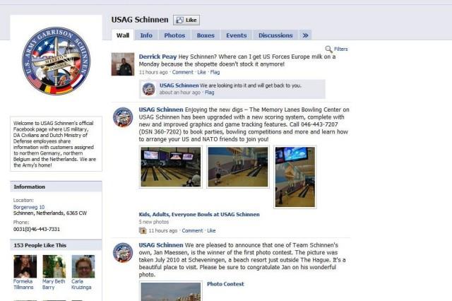USAG Schinnen is on Facebook!