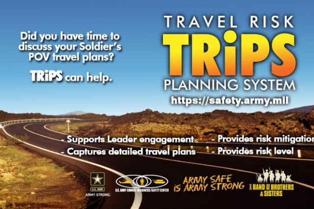 Soldiers, Civilians and their supervisors can now make comments when they complete a TRiPS assessment.  This two-way communication can capture details and guidance to ensure the trip is a safe one.