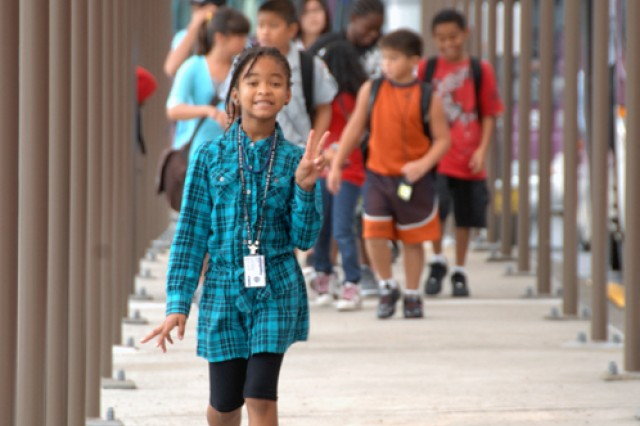 Students arrive at historic Casey Elementary School for classes