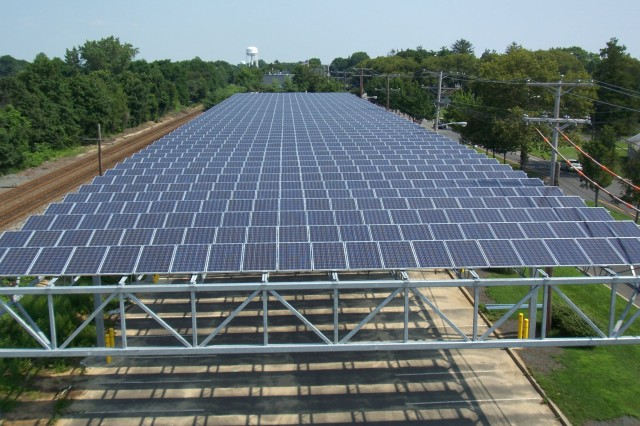 Solar panels at NJNG training facility