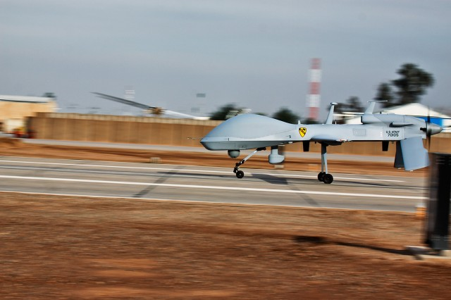 The Army has found success in launching Hellfire missiles from the Grey Eagle UAS platform, and expects to deploy four weaponized versions of the Unmanned Aerial System to Afghanistan. The Grey Eagle UAS was previously known as the Sky Warrior.