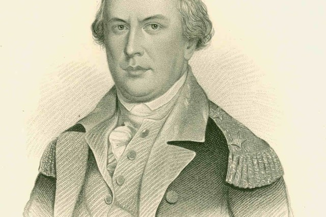 Major General Nathanael Greene was the commander of the Southern Continental Army during the battle of Eutaw Springs.  USAMHI