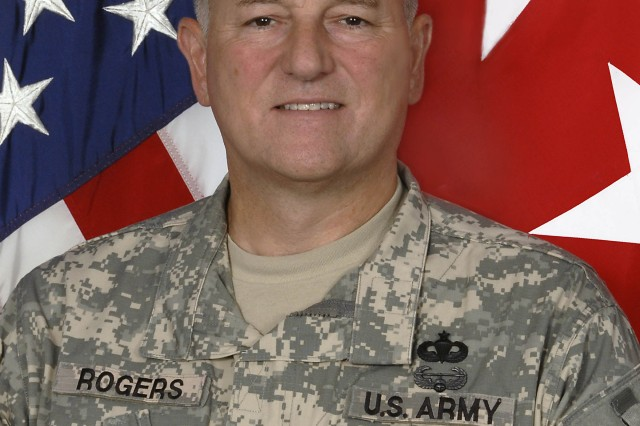 Maj. Gen. James Rogers takes over command of the Army's Aviation and Missile Command, Army Material Command on Sept. 10, 2010.
