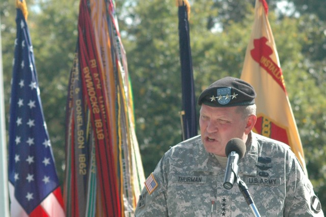 Gen. Thurman gives Patriot Day speech