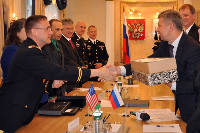 25th ID band is welcomed by Sakhalin Russian administration