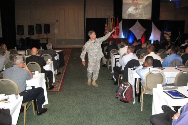 Brig. Gen. Bill Wolf, director of Army Safety and commanding general, U.S. Army Combat Readiness/Safety Center, provided an update on the status of the Army Safety Program in fiscal 2010.  Wolf was addressing attendees of the 2010 Army Senior Safety Tactical Symposium Sept. 14.