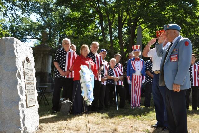 Korean War Veterans help pay tribute to Samuel Wilson, aka Uncle Sam.