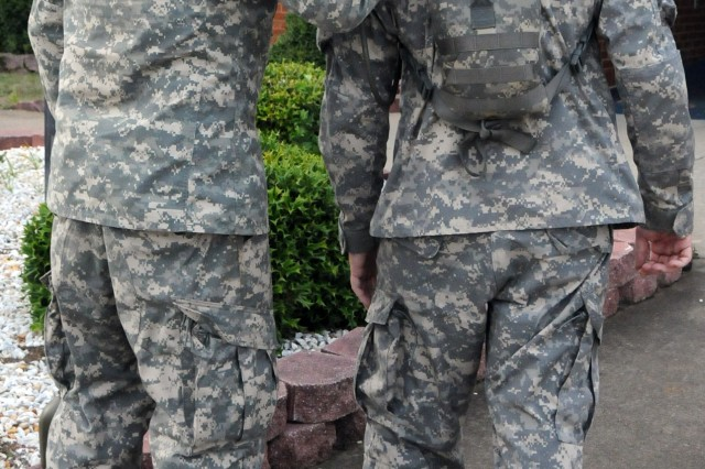 Soldiers helping Soldiers -- Battle buddies help each other during tough times