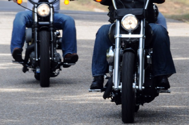 Bikers end their poker run route in Level Plains Sept. 11. More than 100 area motorcyclists participated in Daleville's and 1st Bn., 223rd Avn. Regt.'s annual event in memory of those killed since the Sept. 11, 2001, terrorist attacks.