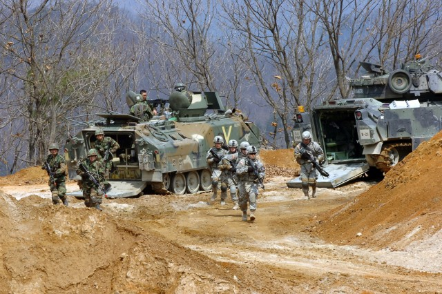 Combined Arms Live Fire Exercise in Korea