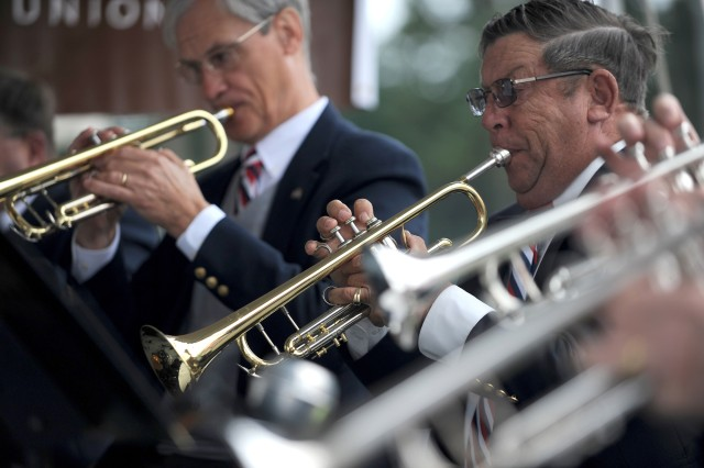 Members of the American Legion Band play patriotic tunes Sept. 11 at the 8th Annual Military Family Support Day in Lacey.