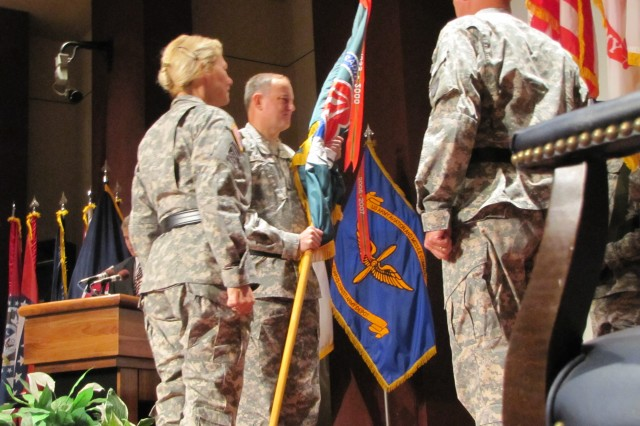 Maj. Gen. Jim Rogers participates in a change of command ceremony Sept. 10 that officially named him commander of the Aviation and Missile Command at Redstone Arsenal.