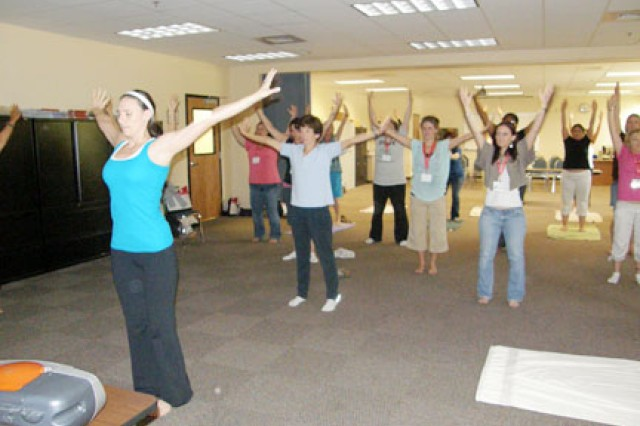FORT POLK, La. -- This Yougatta Try It yoga class gave spouses a brief introduction into a series of poses and breathing techniques meant to strengthen mind and body.