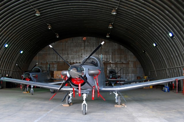 """Iraqi Air Force pilots took possession of three T-6A aircraft in Amman, Jordan, and flew them to Tikrit Sept. 21, bringing their total T-6A inventory to 11. Like U.S. military pilots, the Iraqis must master the T-6A before going on to fly more sophisticated multi-role fighter aircraft. """""""