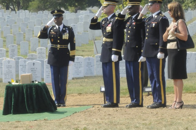 First Lt. Vernon J. Baker was laid to rest in a Full Honor Ceremony conducted by the 3d U.S. Infantry Regiment (The Old Guard) at Arlington National Cemetery. He was an Army infantryman who became the only surviving African American to receive the Medal of Honor for his heroic actions during World War II.