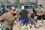 Soldiers playing flag football