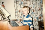 Playing the piano as a child