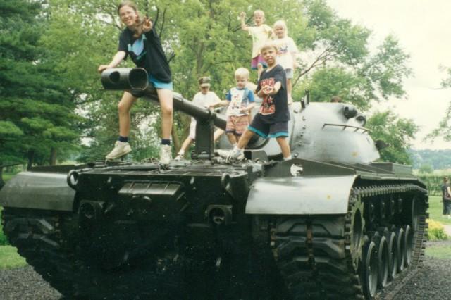 Joanna, Robby, Marty, Mary, and Tom at Cantigny, in 1994.
