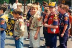Staff Sergeant Robert Miller as a cub scout with others