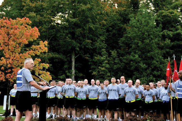 Commander focuses on suicide, provides division strong leadership
