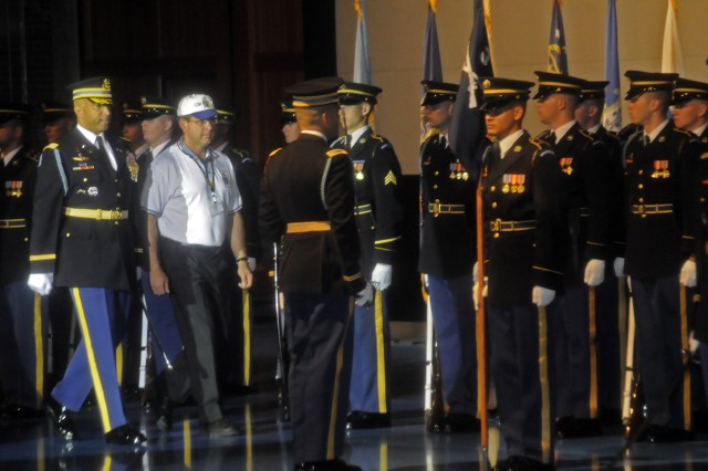 The 3rd U.S. Infantry Regiment (The Old Guard) welcomes members of The Old Guard Association to Fort Myer, Va. for the 13th Annual TOGA reunion. TOGA consists of former service members and their families who have served in The Old Guard. More than 200 TOGA members participated in the reviewing ceremony and the laying of a wreath at the Tomb of the Unknowns. The Old Guard Association has 899 active members.