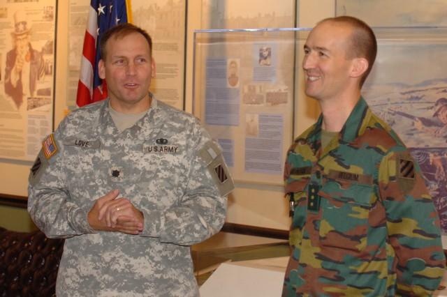 Stewart hosts Belgian officer through Military Personnel Exchange Program