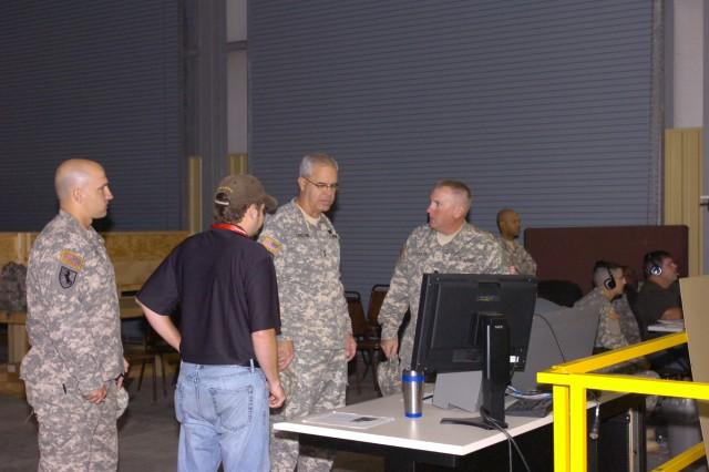 Maj. Gen. Chastain views MRAP driving simulator