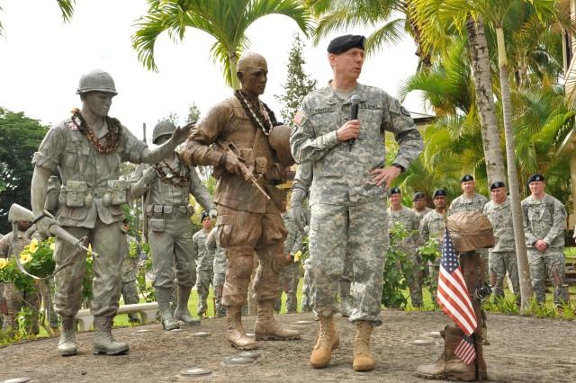 Meeting the troops